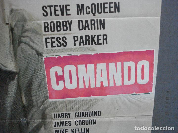 Cine: CDO 4284 COMANDO STEVE MCQUEEN MCP POSTER ORIGINAL 70X100 ESTRENO - Foto 8 - 212116186