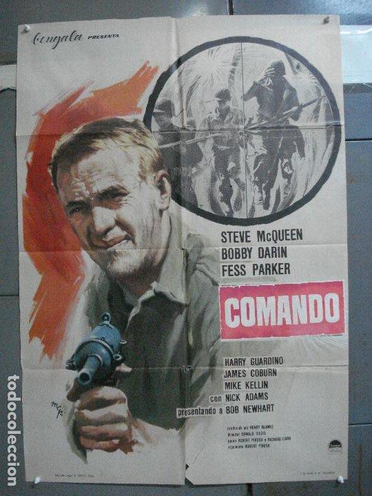 CDO 4284 COMANDO STEVE MCQUEEN MCP POSTER ORIGINAL 70X100 ESTRENO (Cine - Posters y Carteles - Bélicas)