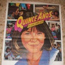 Cine: QUINCE AÑOS RECIEN CUMPLIDOS SOPHIE MARCEAU 1984 CARTEL DE CINE 100 X 70 CM. POSTER. Lote 212156377