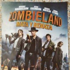 Cine: PÓSTER ORIGINAL ZOMBIELAND MATA Y REMATA. Lote 212178012