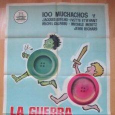 Cine: CARTEL CINE, LA GUERRA DE LOS BOTONES, 100 MUCHACHOS Y JACQUES DUFILHO, PREMIO JEAN VIGO 1962, C964. Lote 212324053