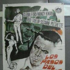 Cine: CDO 4303 LOS PASOS DEL DESTINO GLENN FORD NANCY KWAN POSTER ORIGINAL 70X100 ESTRENO. Lote 212356533