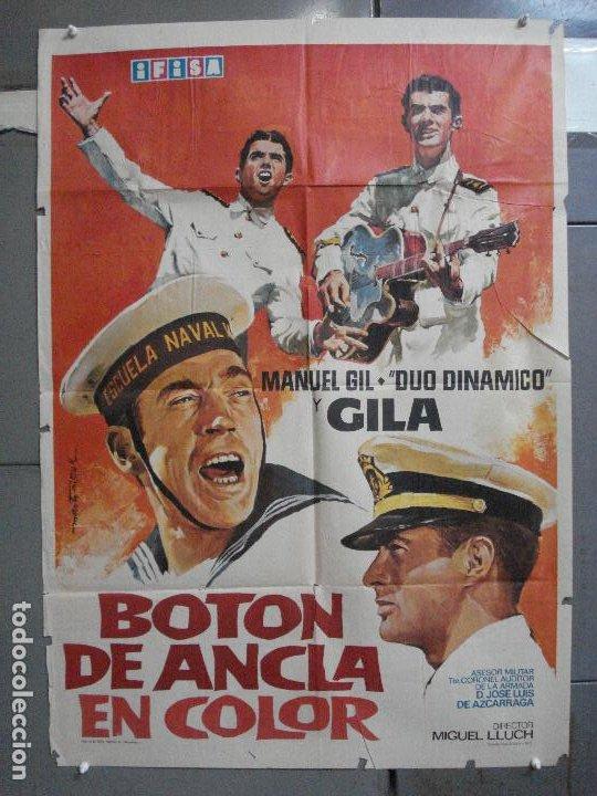 CDO 4305 BOTON DE ANCLA EN COLOR DUO DINAMICO GILA MARTI RIPOLL POSTER ORIGINAL 70X100 ESPAÑOL R-72 (Cine - Posters y Carteles - Clasico Español)