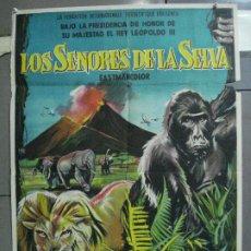 Cine: CDO 4311 LOS SEÑORES DE LA SELVA POSTER ORIGINAL 70X100 DEL ESTRENO LITOGRAFIA. Lote 212359957