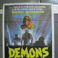 Cine: AAK91 DEMONS LAMBERTO BAVA DARIO ARGENTO POSTER ORIGINAL ESTRENO 70X100. Lote 212367607