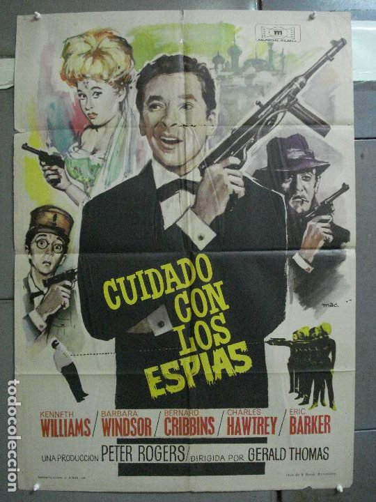 CDO 4335 CUIDADO CON ESPIAS CARRY ON JAMES BOND 007 IMAGEN PARODIA MAC POSTER ORIG ESTRENO 70X100 (Cine - Posters y Carteles - Acción)