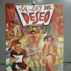 Cine: AAL20 LA LEY DEL DESEO PEDRO ALMODOVAR CEESEPE POSTER ORIGINAL 30X46 ESTRENO. Lote 233207420