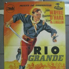 Cine: AAL32 RIO GRANDE JOHN WAYNE JOHN FORD POSTER ORIGINAL ESTRENO 70X100 LITOGRAFIA. Lote 212391875