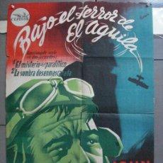 Cine: AAL34 BAJO EL TERROR DEL AGUILA JOHN WAYNE SERIAL RAMON POSTER ESTRENO 70X100 LITOGRAFIA. Lote 212394215