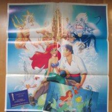 Cine: CARTEL CINE + 12 FOTOCROMOS LA SIRENITA WALT DISNEY 1990 CCF151. Lote 212422113