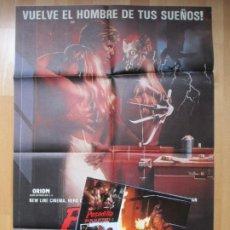 Cine: CARTEL CINE + 12 FOTOCROMOS PESADILLA EN ELM STREET 2 LA VENGANZA DE FREDDY 1985 CCF155. Lote 212423826