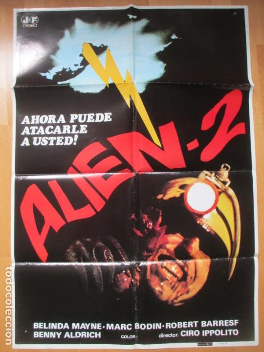 Cine: CARTEL CINE + 12 FOTOCROMOS ALIEN 2 BELINDA MAYNE 1980 CCF157 - Foto 2 - 212461920