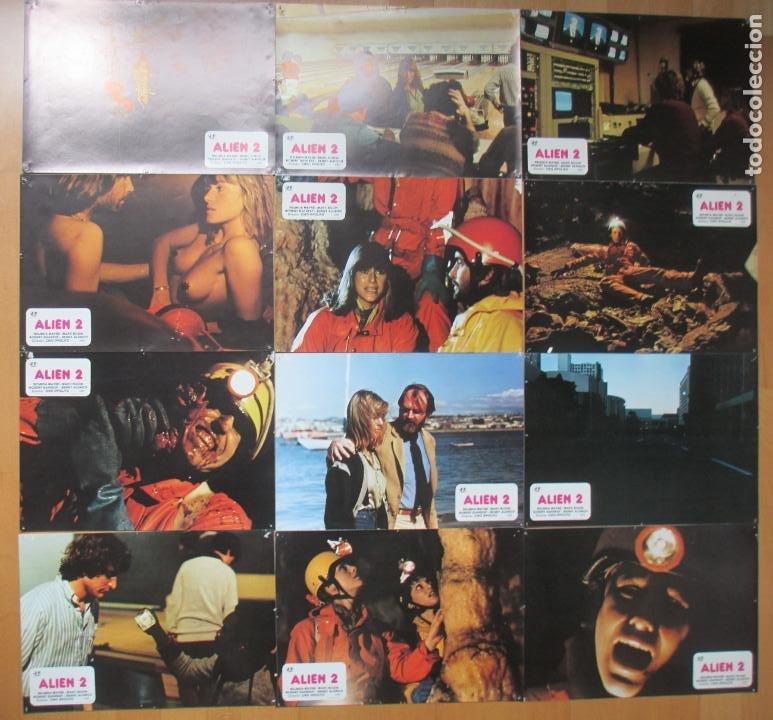 Cine: CARTEL CINE + 12 FOTOCROMOS ALIEN 2 BELINDA MAYNE 1980 CCF157 - Foto 3 - 212461920