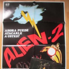 Cine: CARTEL CINE + 12 FOTOCROMOS ALIEN 2 BELINDA MAYNE 1980 CCF157. Lote 212461920