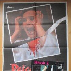 Cine: CARTEL CINE + 12 FOTOCROMOS PSICOSIS 2 LEONARD MANN 1982 CCF162. Lote 212462533
