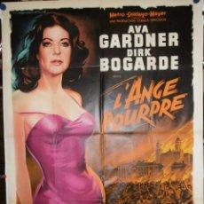 Cinema: L'ANGE POURPRE - 160 X 120CM - 1960 - LITOGRAFICO. Lote 212466165