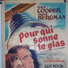 Cine: POUR QUI SONNE LE GLAS - 160 X 120CM - 1940 - LITOGRAFICO. Lote 212466518