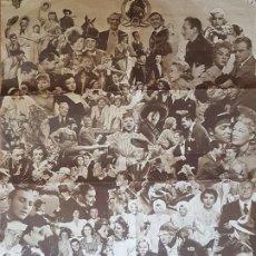 Cine: HOLLYWOOD METRO GOLDWYN MAYER CARTEL MONTAJE FOTOGRAFIA ACTORES Y ACTRICES AÑOS 40 79 X 49 CTMS. Lote 212491326