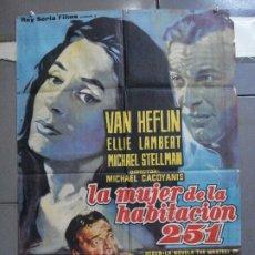 Cine: CDO 4352 LA MUJER DE LA HABITACION 251 MICHAEL CACOYANNIS VAN HEFLIN POSTER ORIGINAL 70X100 ESTRENO. Lote 212491710