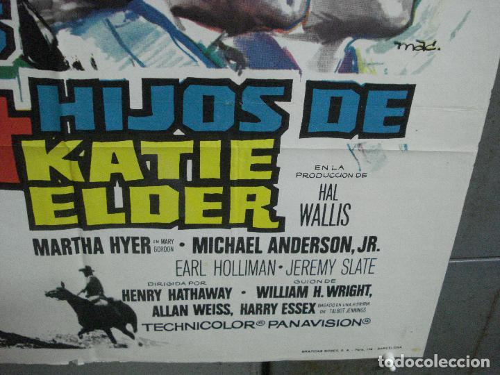 Cine: AAL52 LOS 4 HIJOS DE KATIE ELDER JOHN WAYNE MAC POSTER ORIGINAL 70X100 ESTRENO - Foto 9 - 212498845