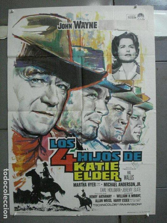 AAL52 LOS 4 HIJOS DE KATIE ELDER JOHN WAYNE MAC POSTER ORIGINAL 70X100 ESTRENO (Cine - Posters y Carteles - Westerns)