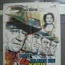 Cine: AAL52 LOS 4 HIJOS DE KATIE ELDER JOHN WAYNE MAC POSTER ORIGINAL 70X100 ESTRENO. Lote 212498845