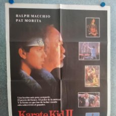 Cine: KARATE KID II. RALPH MACCHIO, PAT MORITA. AÑO 1986 . POSTER ORIGINAL. Lote 212509331