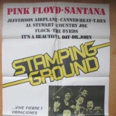 Cinema: CARTEL CINE STAMPING GROUND PINK FLOYD SANTANA C1918. Lote 212511410