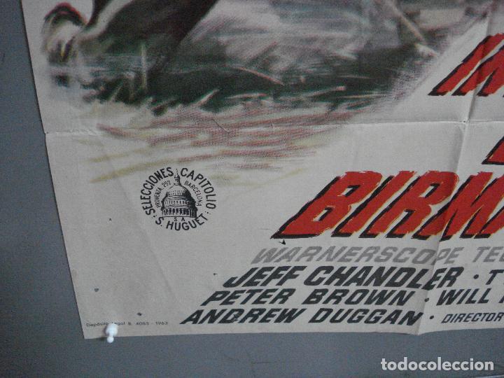 Cine: CDO 4410 INVASION EN BIRMANIA SAMUEL FULLER POSTER ORIGINAL 70X100 ESTRENO - Foto 5 - 212517932