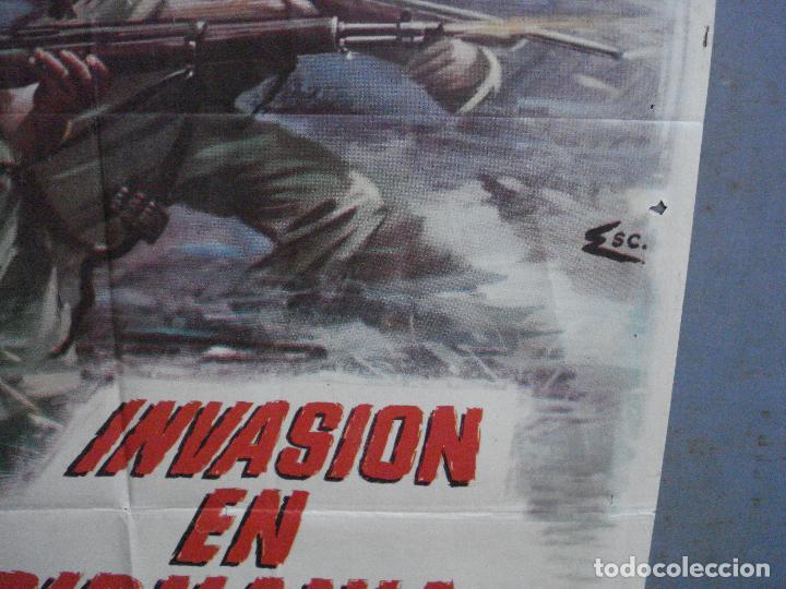 Cine: CDO 4410 INVASION EN BIRMANIA SAMUEL FULLER POSTER ORIGINAL 70X100 ESTRENO - Foto 8 - 212517932