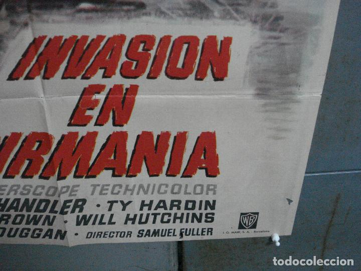 Cine: CDO 4410 INVASION EN BIRMANIA SAMUEL FULLER POSTER ORIGINAL 70X100 ESTRENO - Foto 9 - 212517932