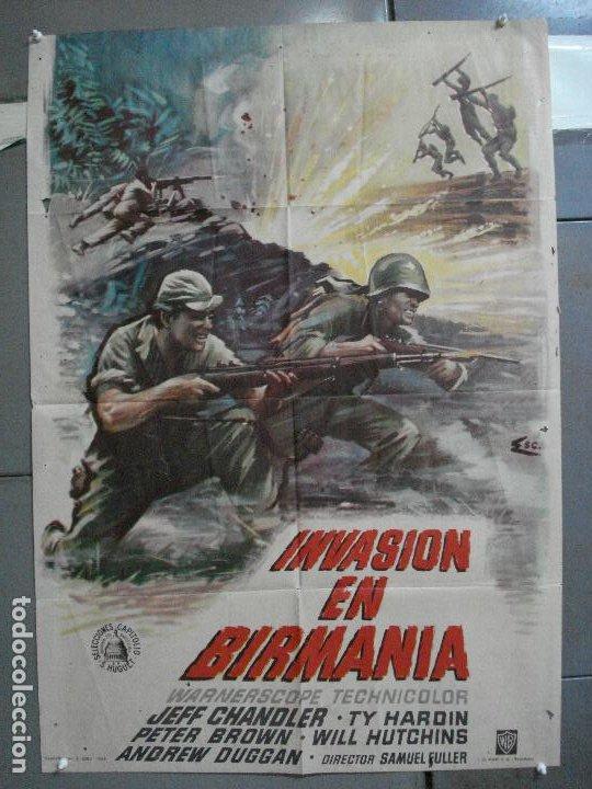 CDO 4410 INVASION EN BIRMANIA SAMUEL FULLER POSTER ORIGINAL 70X100 ESTRENO (Cine - Posters y Carteles - Bélicas)