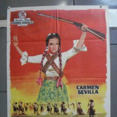 Cine: CDO 4423 LA GUERRILLERA DE VILLA CARMEN SEVILLA JANO POSTER ORIGINAL 70X100 ESTRENO. Lote 212521855