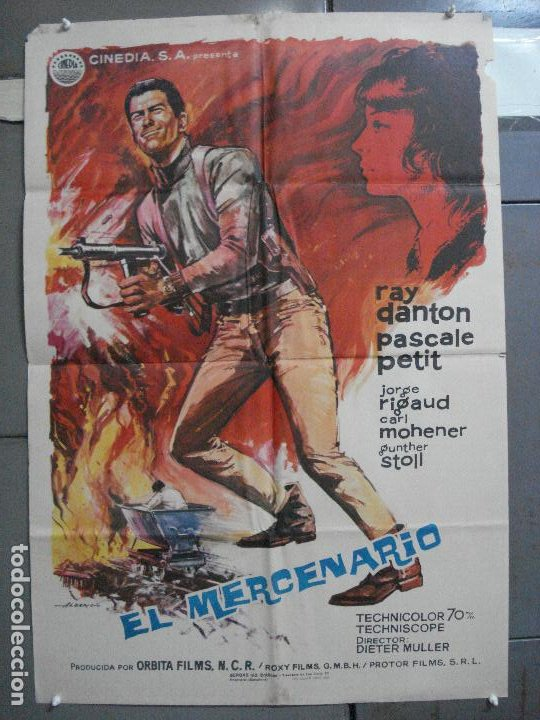 CDO 4437 EL MERCENARIO RAY DANTON PASCALE PETIT INMA DE SANTIS ALBERICIO POSTER ORIG 70X100 ESTRENO (Cine - Posters y Carteles - Acción)
