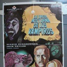 Cine: CDO 4439 LA ORGIA NOCTURNA DE LOS VAMPIROS LEON KLIMOVSKY TERROR ESPAÑOL POSTER ORIG 70X100 ESTRENO. Lote 212526955