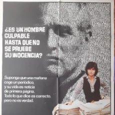 Cinema: CARTEL CINE AUSENCIA DE MALICIA PAUL NEWMAN SALLY FIELD 1981 A46. Lote 212542638