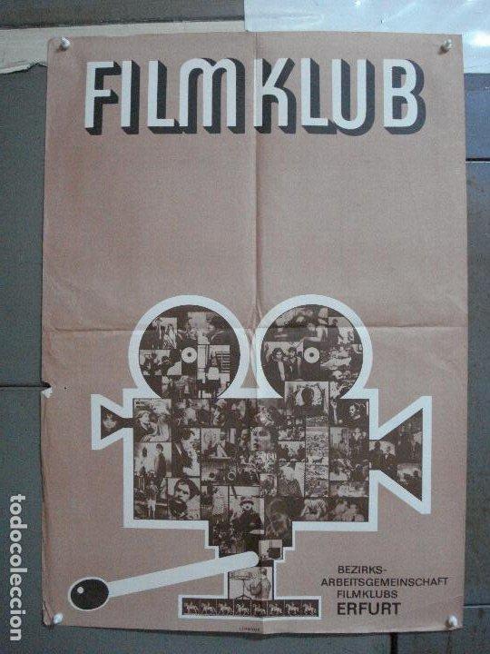CDO 4459 CINE CLUB ALEMAN FILMKLUB ERFURT POSTER ORIGINAL ALEMAN 57X80 (Cine - Posters y Carteles - Documentales)