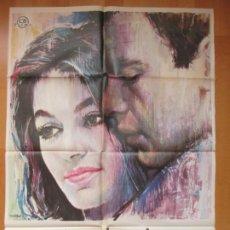 Cine: CARTEL CINE UN HOMBRE Y UNA MUJER ANOUK AIMEE JEAN-LOUIS TRINTIGNANT 1974 C1738. Lote 187598117