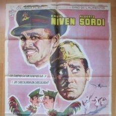 Cine: CARTEL CINE SU MEJOR ENEMIGO DAVID NIVEN ALBERTO SORDI 1962 ALBERICIO C1693. Lote 212576081