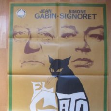 Cine: CARTEL CINE, EL GATO, JEAN GABIN, SIMONE SIGNORET, JANO, 1971, C817. Lote 212577565