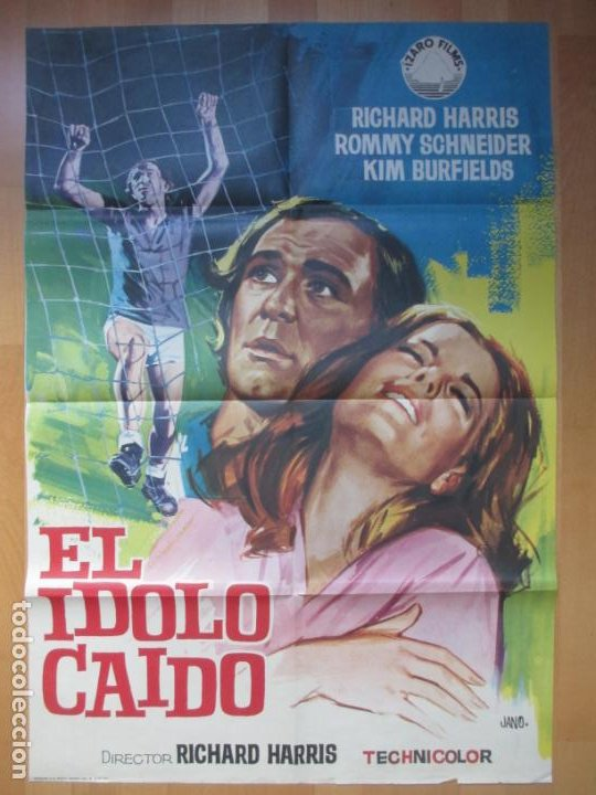 CARTEL CINE, EL IDOLO CAIDO, RICHARD HARRIS, ROMMY SCHNEIDER, JANO, 1971, C848 (Cine - Posters y Carteles - Deportes)