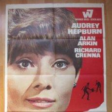 Cine: CARTEL CINE, SOLA EN LA OSCURIDAD, AUDREY HEPBURN, ALAN ARKIN, MCP, 1968, C922. Lote 212581295