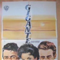 Cine: CARTEL CINE, GIGANTE, ELIZABETH TAYLOR, ROCK HUDSON, JAMES DEAN, 1970, C921. Lote 212581312