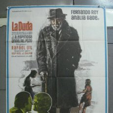 Cine: CDO 4504 LA DUDA FERNANDO REY ANALIA GADE RAFAEL GIL INMA DE SANTIS POSTER ORIGINAL 70X100 ESTRENO. Lote 212605562