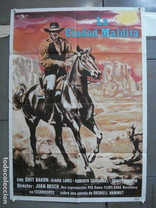 CDO 4509 LA CIUDAD MALDITA CHET BAKON DIANA LORIS JUAN BOSCH SPAGHETTI POSTER ORIGINAL 70X100 EST (Cine - Posters y Carteles - Westerns)