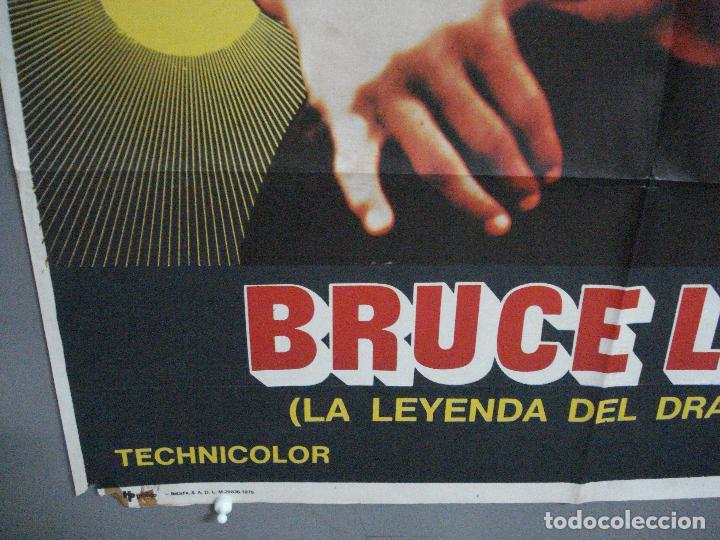 Cine: CDO 4516 BRUCE LEE LA LEYENDA DEL DRAGON POSTER ORIGINAL 70X100 ESTRENO - Foto 5 - 212614832