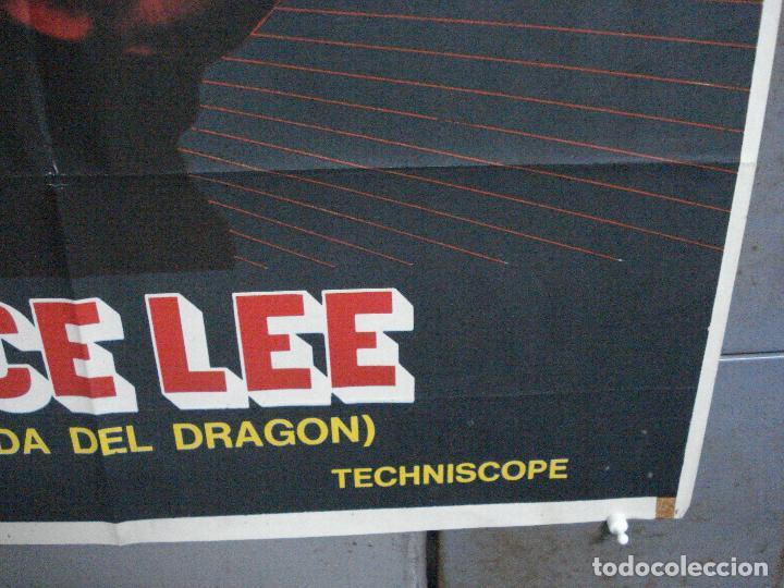 Cine: CDO 4516 BRUCE LEE LA LEYENDA DEL DRAGON POSTER ORIGINAL 70X100 ESTRENO - Foto 9 - 212614832