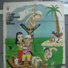 Cine: CDO 4531 UNA ISLA CON TOMATE TONY LEBLANC ANTONIO GARISA POSTER ORIGINAL 70X100 ESTRENO. Lote 212622066
