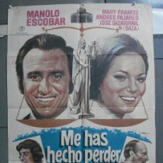 Cine: CDO 4542 ME HAS HECHO PERDER EL JUICIO MANOLO ESCOBAR PAJARES SAZA POSTER ORIGINAL 70X100 ESTRENO. Lote 212632307