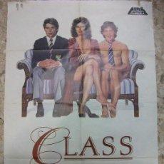 Cine: CLASS ROB LOWE JACQUELINE BISSET ANDREW MACCARTHY 1983 CARTEL DE CINE 100 X 70 CM. POSTER. Lote 212722762
